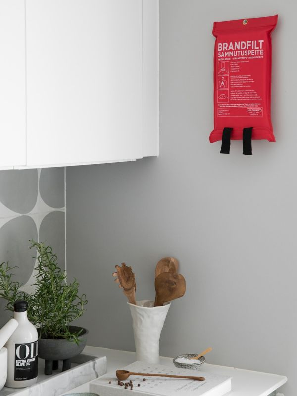 Brandtæppe 120x180 cm, rød